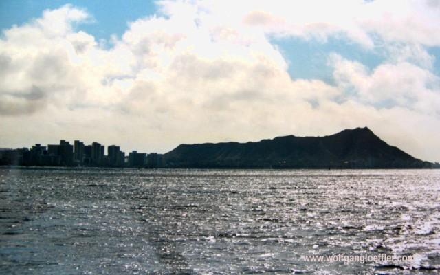 Waikiki und Diamond vom Meer aus gesehen