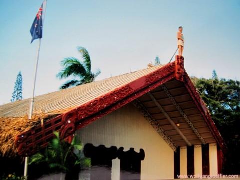 Neuseeland: traditionelles Haus der Maori