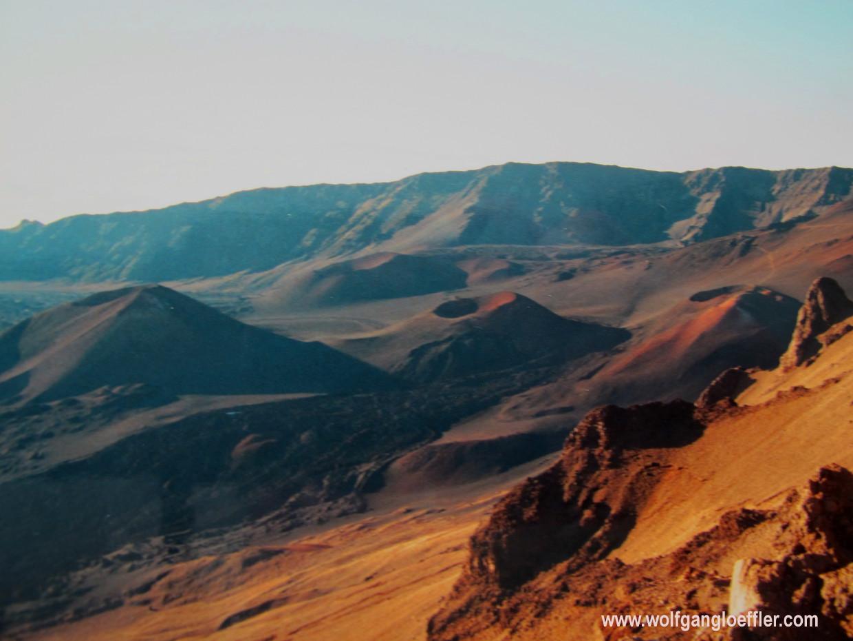 Blick über den Krater des Haleakala auf Maui