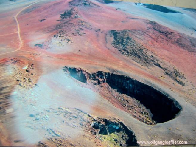 Haleakala Krater, Maui, aus dem Hunschrauber