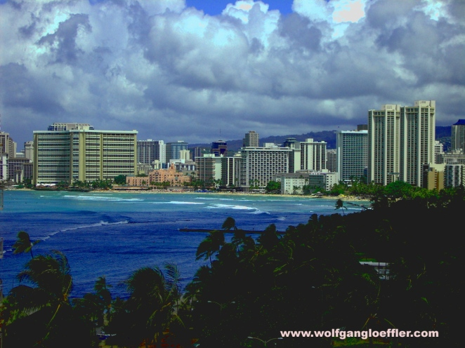 Waikiki Beach seen from diamond head