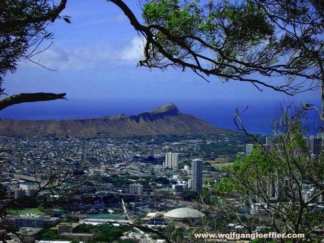 view over waikiki and diamond head