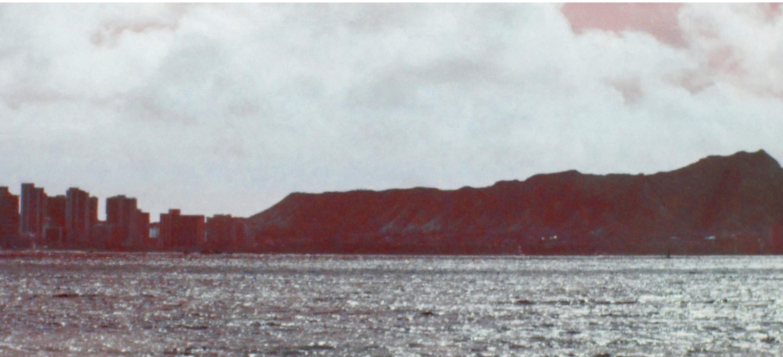 Panoramablick vom Meer auf Waikiki und Diamond Head