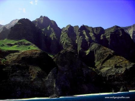 Klippen der Napali Coast