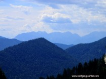 Blick ins Karwendelgebirge von der Florianshütte