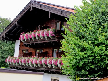 Traditional House and flowers in Pertisau