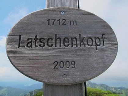 42- Plakette Gipfelkreuz Latschenkopf