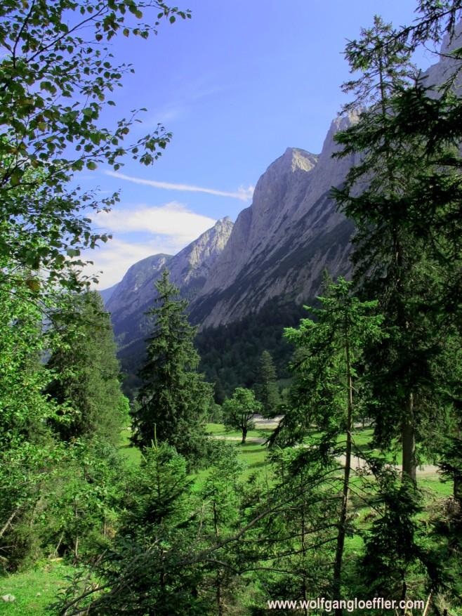 Blick auf Gamsjoch und Roßkopf