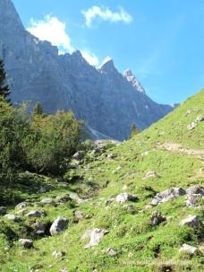 Aufstieg zur Falkenhütte