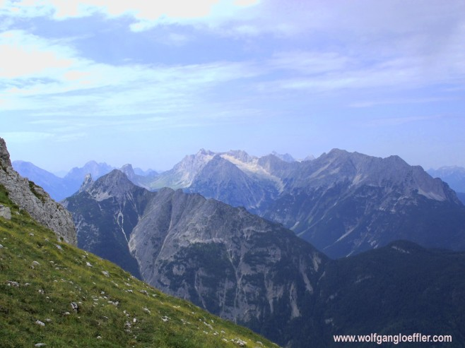 view of the Karwendel