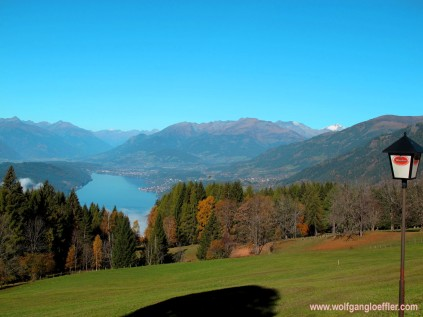 view over the lake Millstatt
