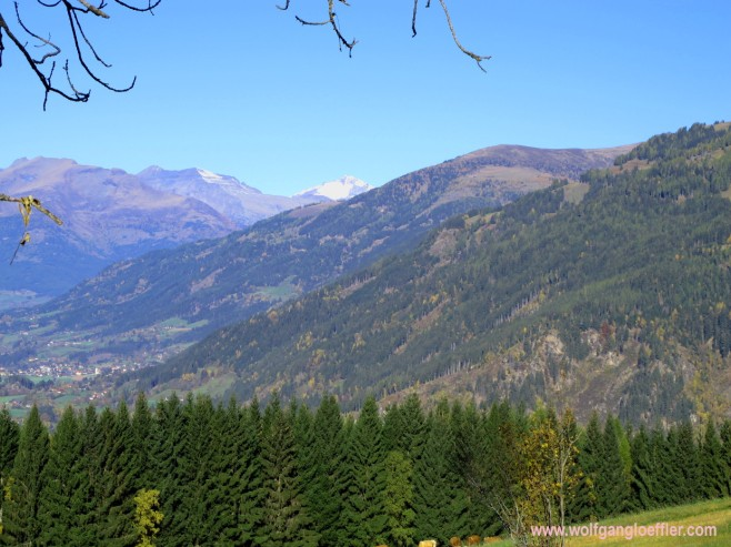 view of the Nock mountain range and the Reißeck