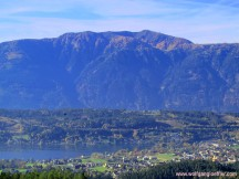 view over the lake to the Goldeck
