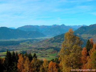 view of the Drau river valley
