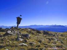 Blick vom Gipfel in die Karawanken