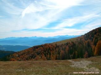 view of the Karawanken und Julischen Alpen