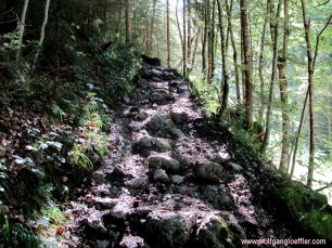 path during the ascent