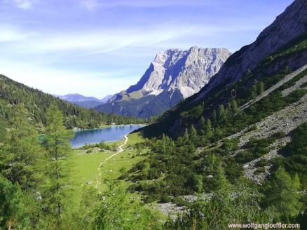 Seebener See und Zugspitze