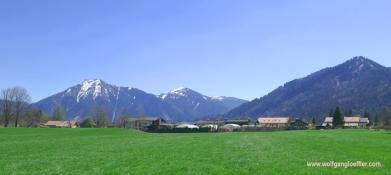 Blick von Abwinkl in die Berge