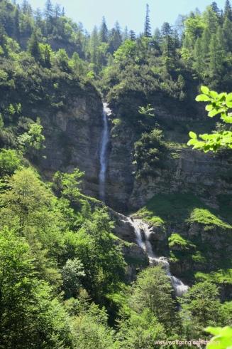 Wasserfall am Ende des Krottenbachtals