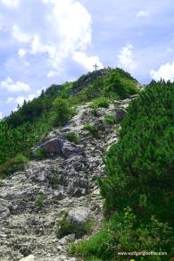Kurz unterhalb des Gipfels