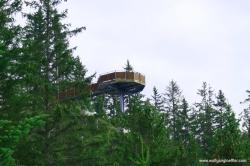 Aussichtsplattform an der Tuftlalm