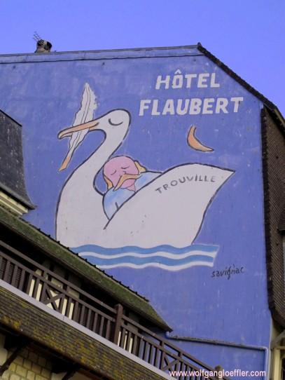 Wandmalerei in Trouville